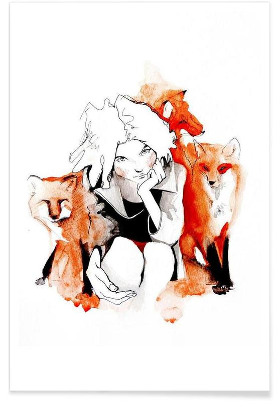 Foxes, Foxy Poster