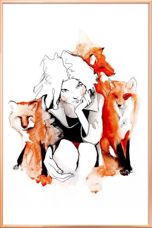 Foxy Poster in Aluminium Frame