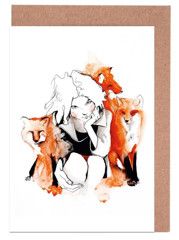 Renards, Foxy cartes de vœux