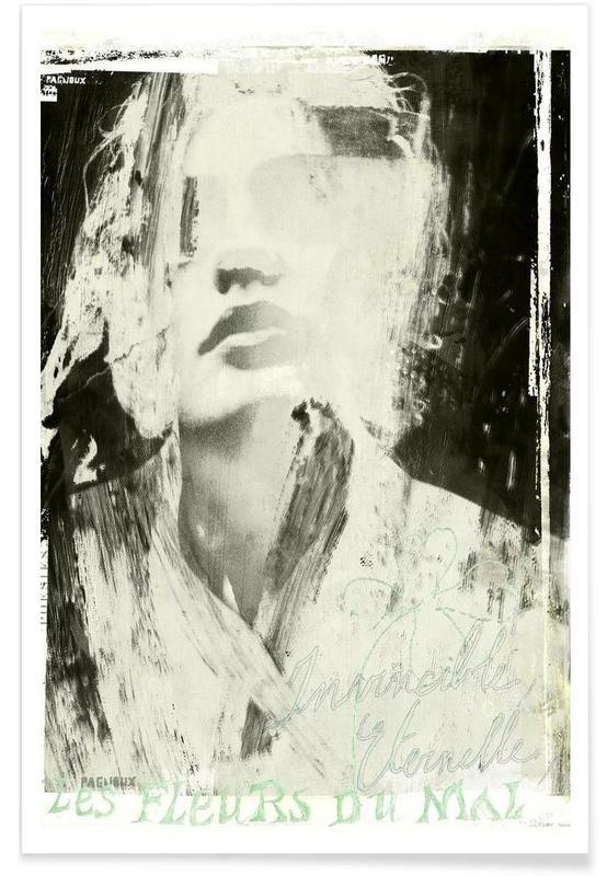 Black & White, Portraits, Fleurs du Mal Poster