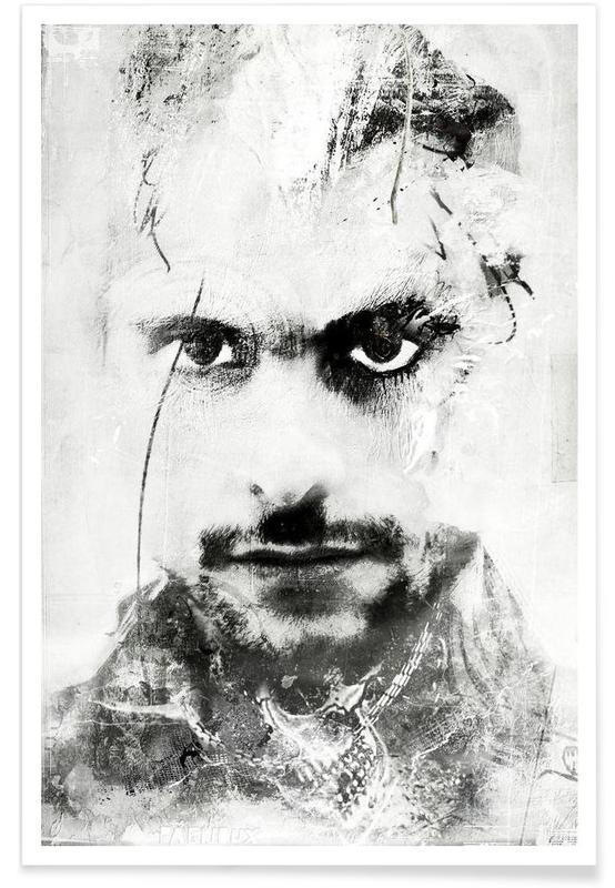 Noir & blanc, Portraits, Glam affiche