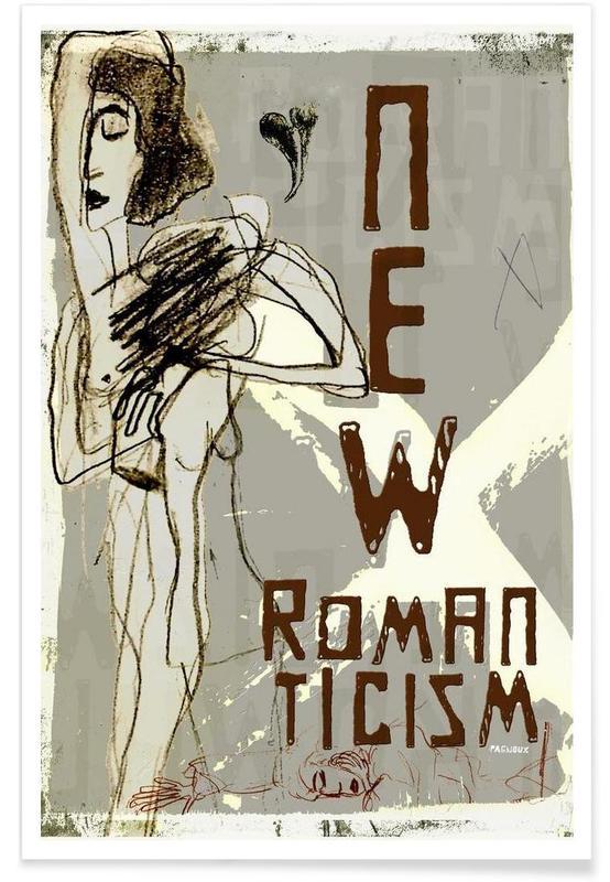Noir & blanc, New Romanticism affiche