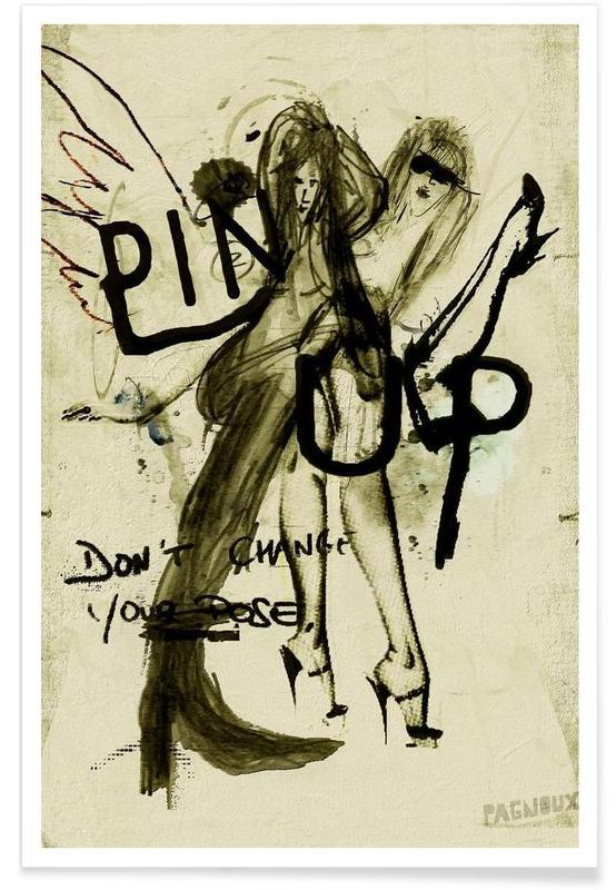 Noir & blanc, Pin Up affiche