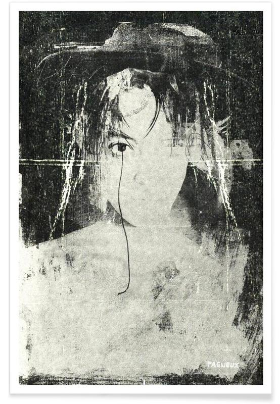 Zwart en wit, Portretten, Spellbound poster