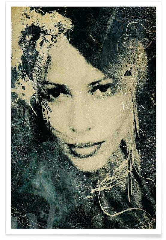 Noir & blanc, Portraits, Voluptes Noires affiche