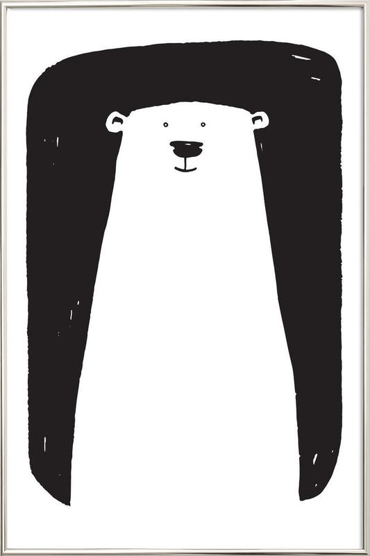 Bear Poster in Aluminium Frame