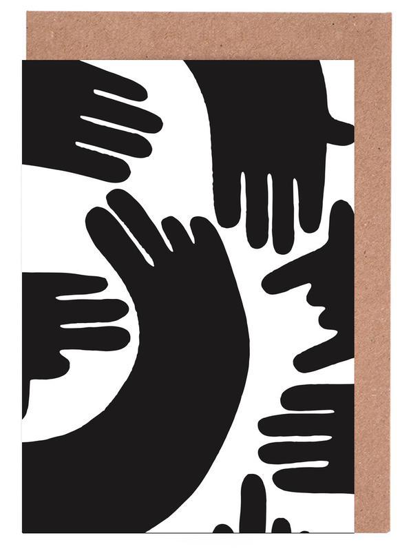 Noir & blanc, Street Art, Hands cartes de vœux
