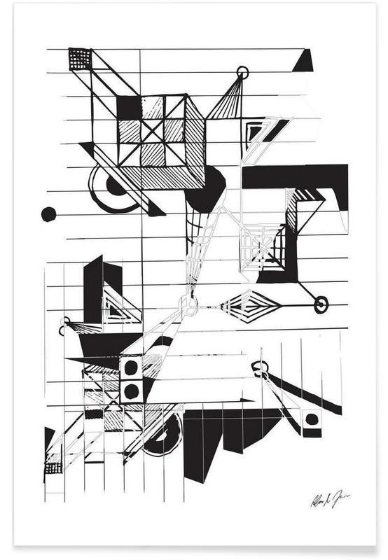 Zwart en wit, BW2 poster