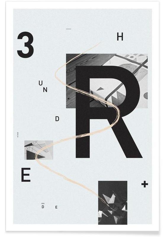 Alphabet et lettres, 300 affiche