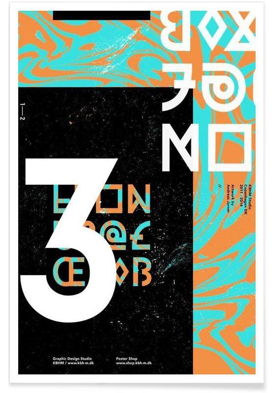 Alphabet et lettres, KBHM3YEARS 1 affiche