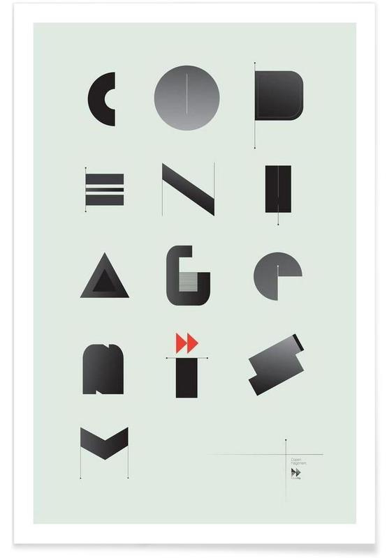 Alphabet & Buchstaben, Copenhagenism -Poster
