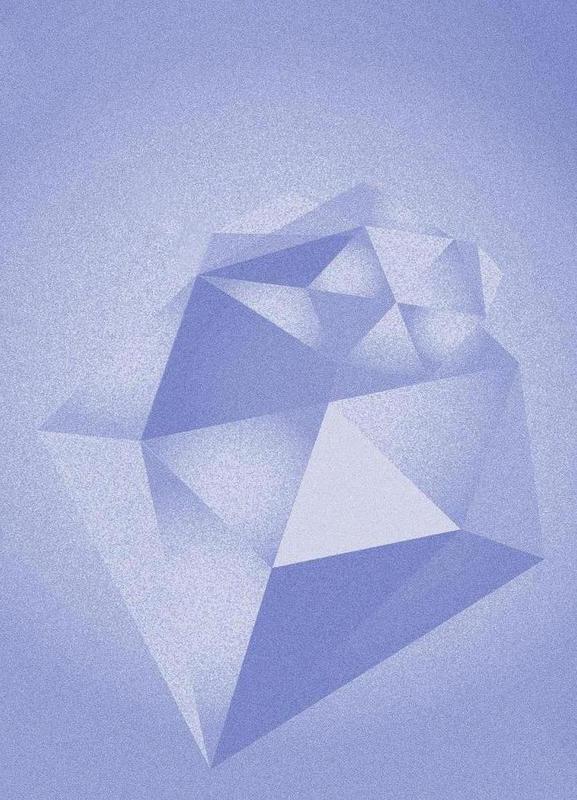 Crystals Blue -Leinwandbild