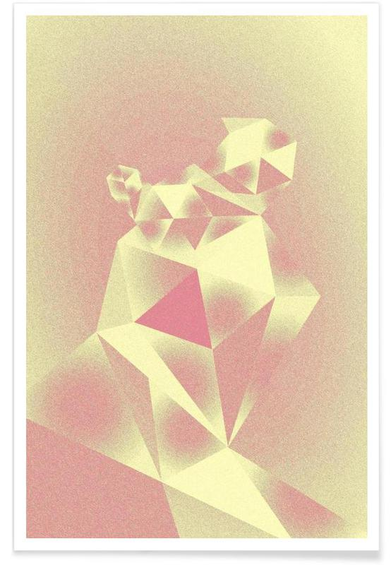 , Crystals yellow affiche
