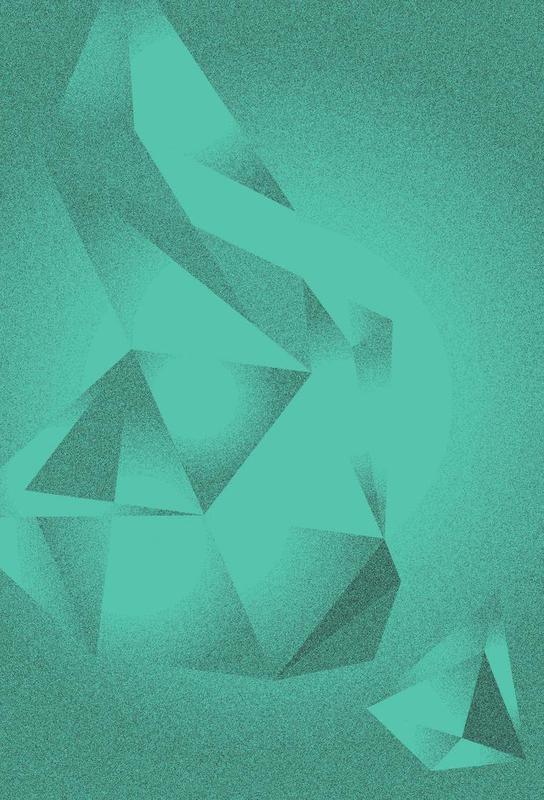 Crystals Green -Acrylglasbild