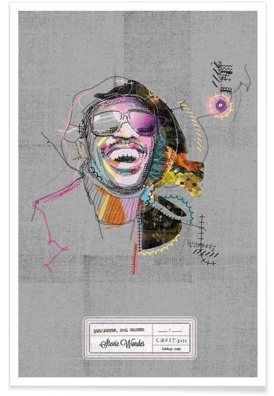 Jazz, Stevie Portrait -Poster