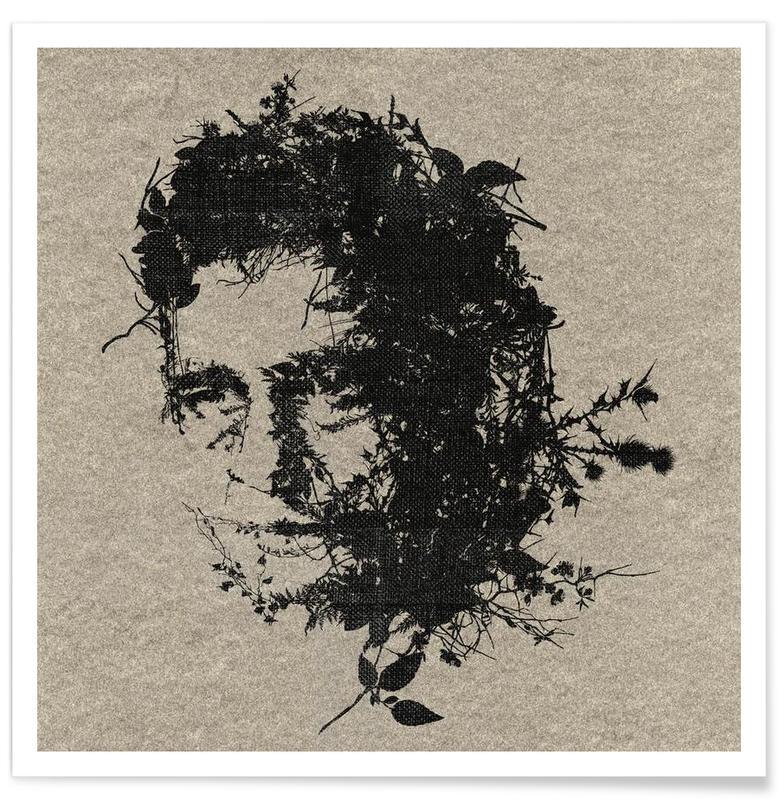 Noir & blanc, Rock, Johnny Cash affiche