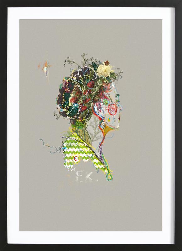 Frida 1 ingelijste print