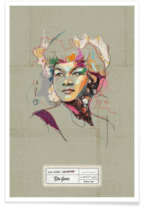 Jazz, Etta Portrait affiche