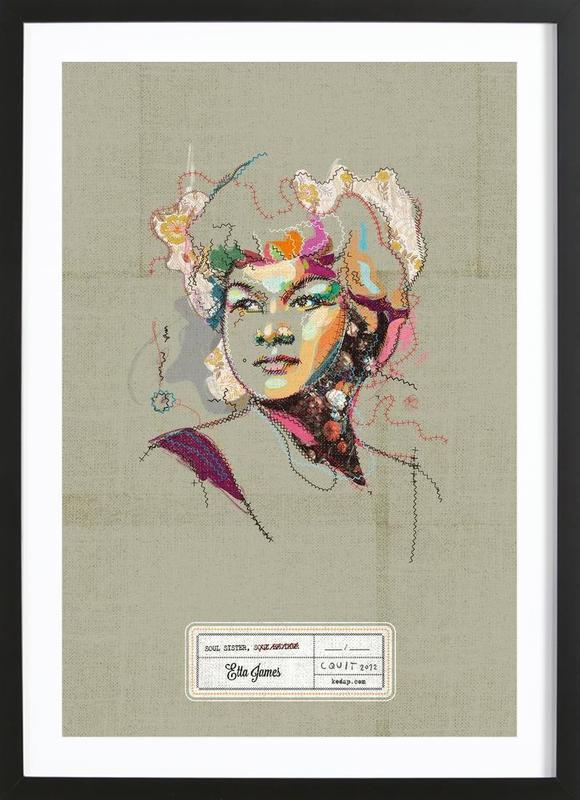 Etta Portrait ingelijste print