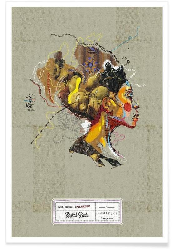 Jazz, Erykah Portrait affiche