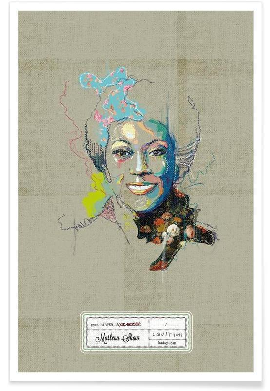 Jazz, Marlena Portrait -Poster