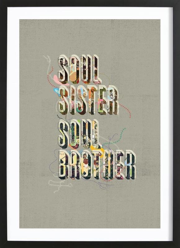 Gil Scott Portrait ingelijste print