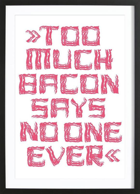 Bacon -Bild mit Holzrahmen
