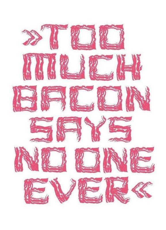 Bacon -Leinwandbild