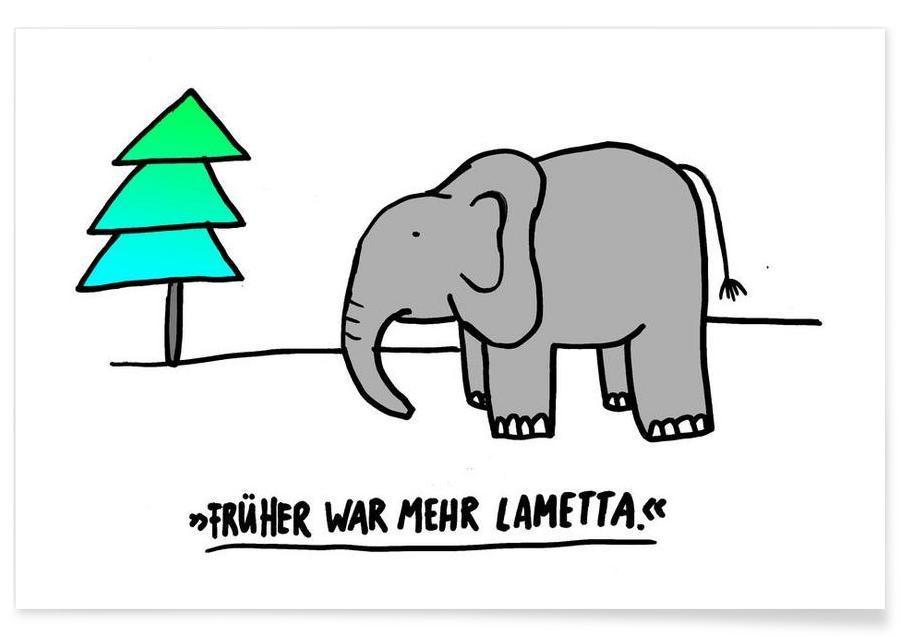 Humour, Noël, Éléphants, Lametta affiche