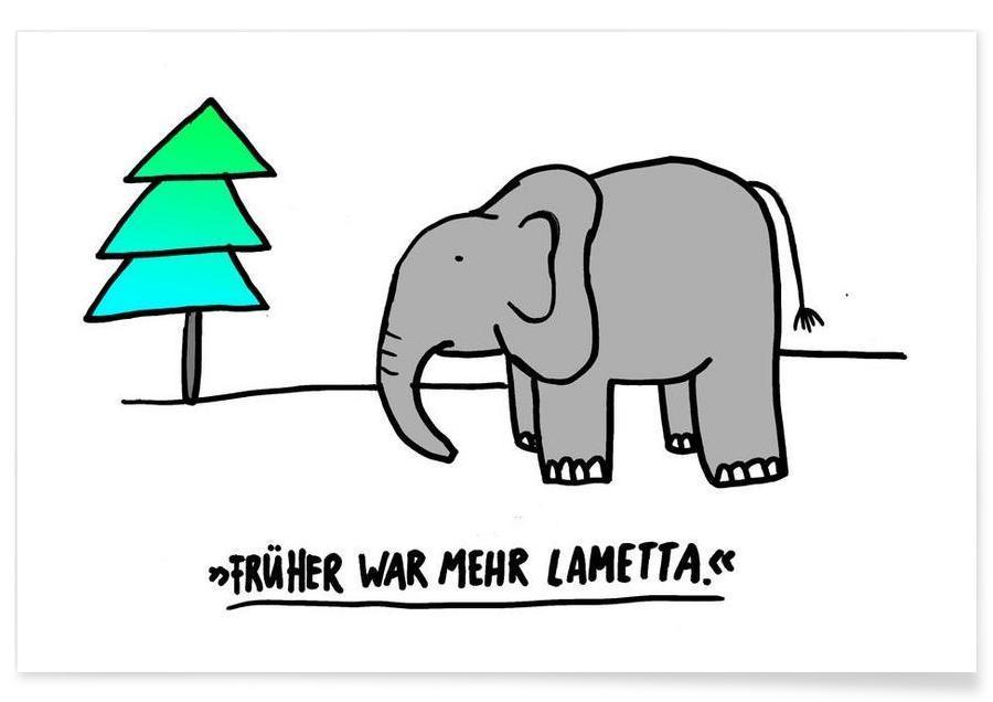 Christmas, Elephants, Funny, Lametta Poster