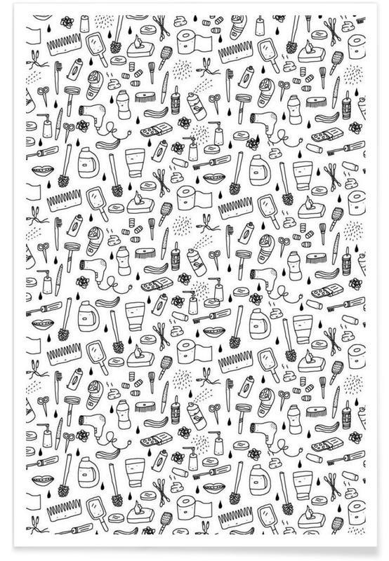 Shower Pattern Poster