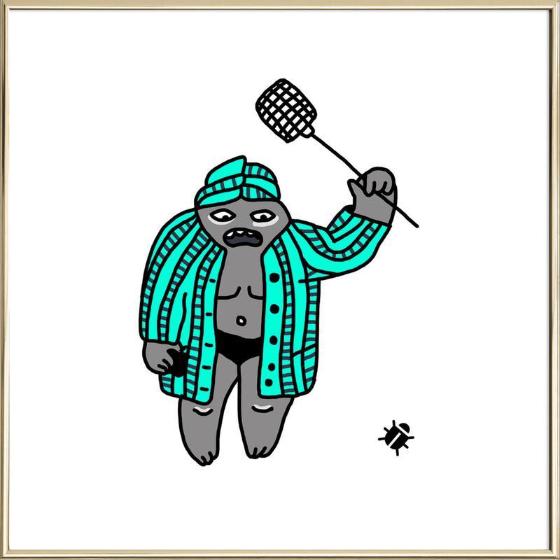Bug -Poster im Alurahmen
