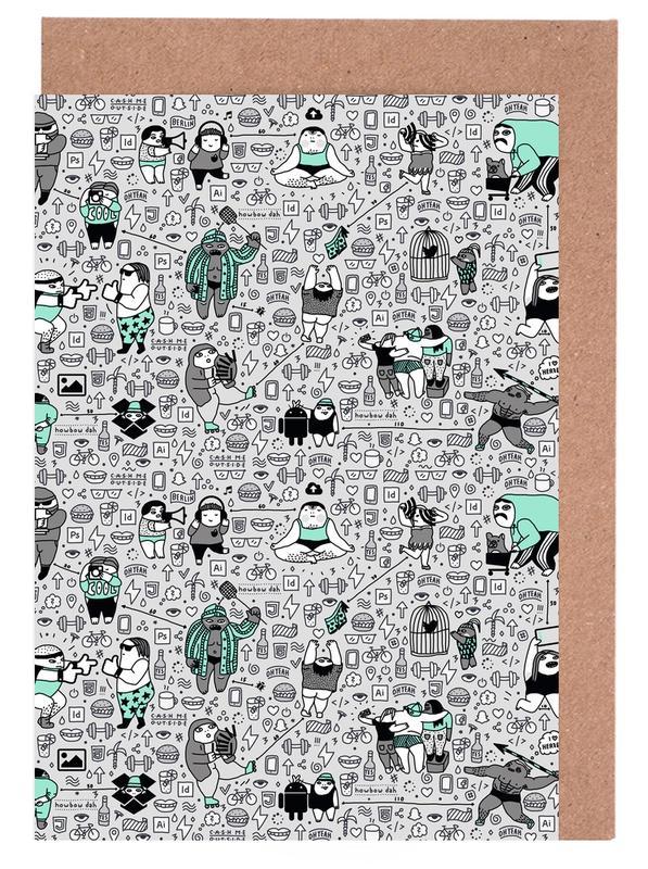 Humour, Street Art, Kool Kids Pattern cartes de vœux