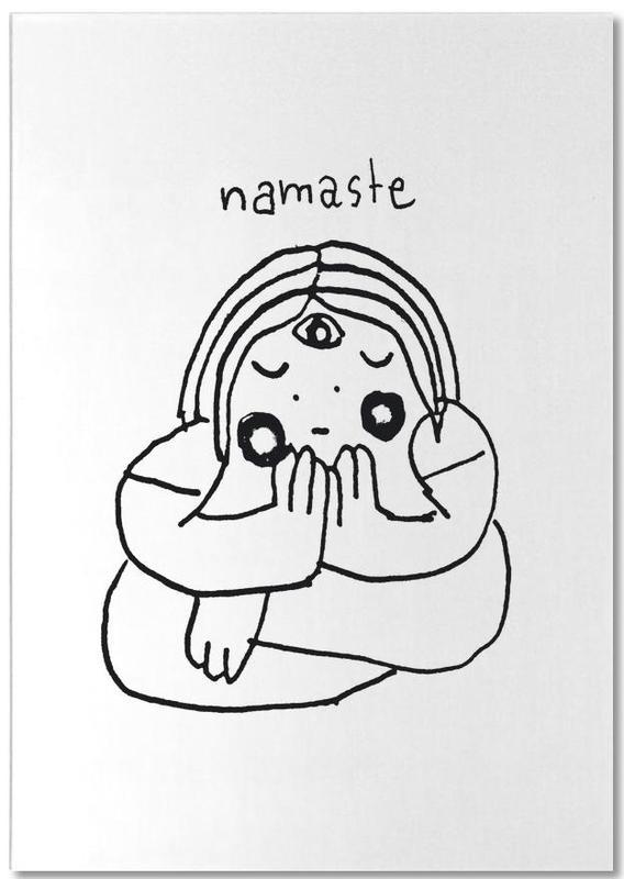 Humour, Noir & blanc, Yoga, Namaste bloc-notes