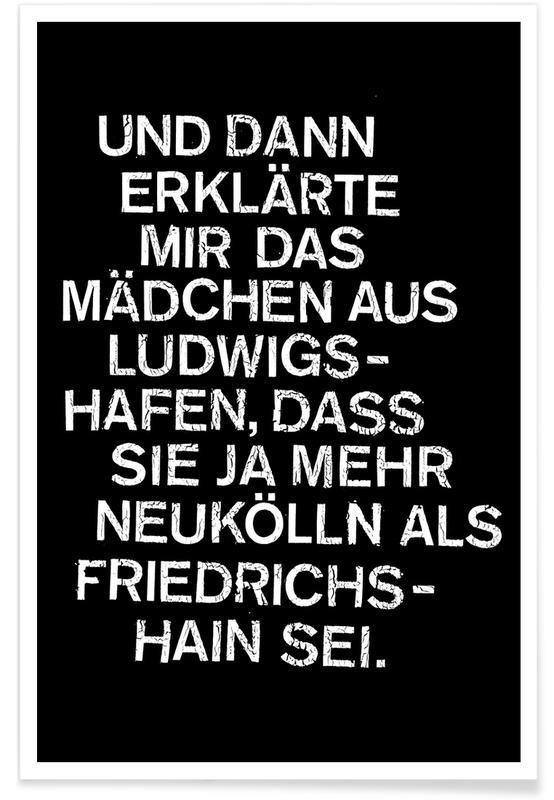 Noir & blanc, Humour, Ludwigshafen affiche
