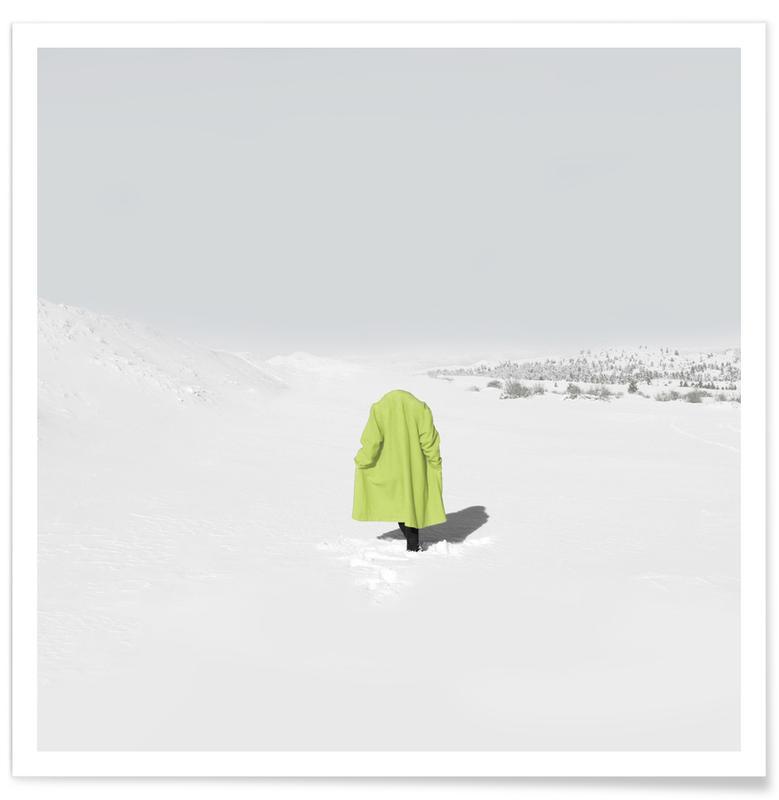 Portraits, Montagnes, Neon Snow affiche