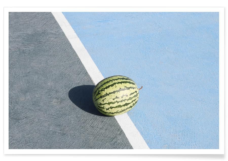 , Athletic Watermelon Poster