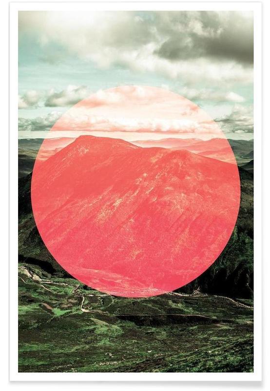 Montagnes, Highlands écossais - Photographie affiche