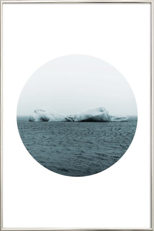 Circular 3 Jökulsárlón Poster in Aluminium Frame