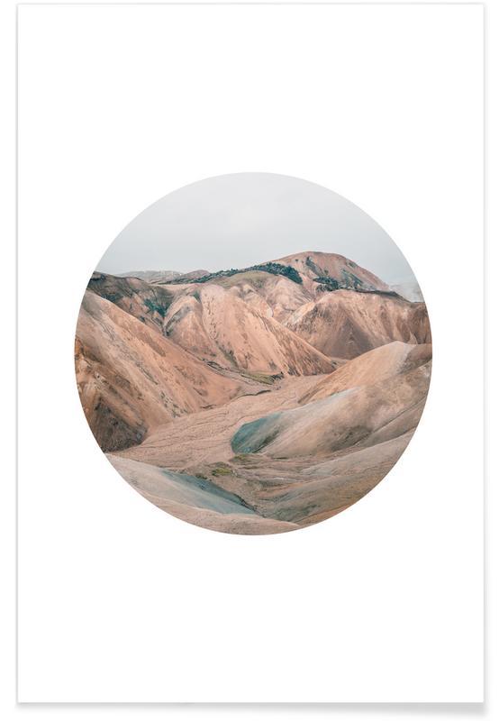 Berge, Wüsten, Landmannalaugar-Fotografie -Poster