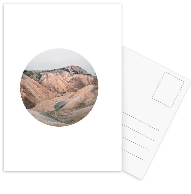Bergen, Woestijn, Circular 3 Landmannalaugar ansichtkaartenset