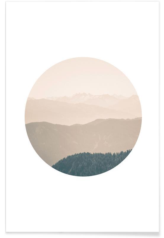 Montagnes, Couchers de soleil, Karwendel - Photographie affiche