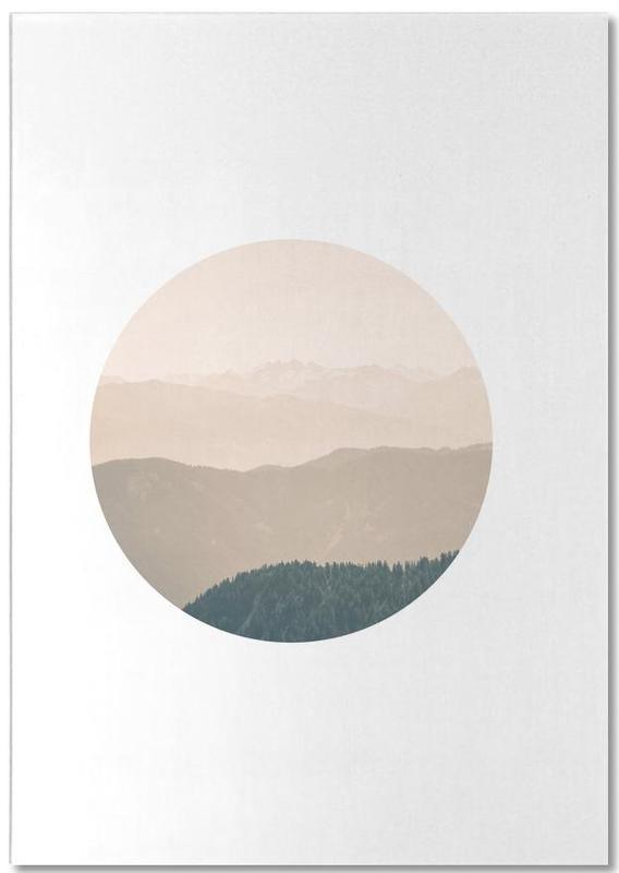 Berge, Sonnenuntergänge, Circular 4 Karwendel -Notizblock