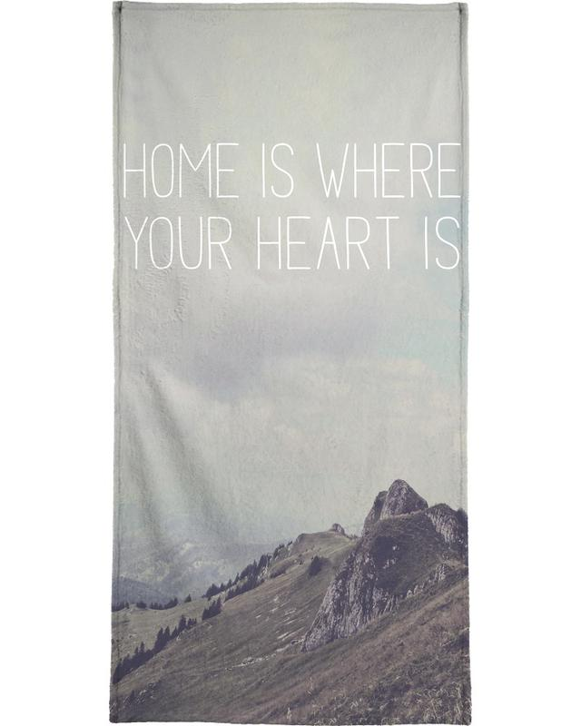 Home Is Where Your Heart Is -Handtuch