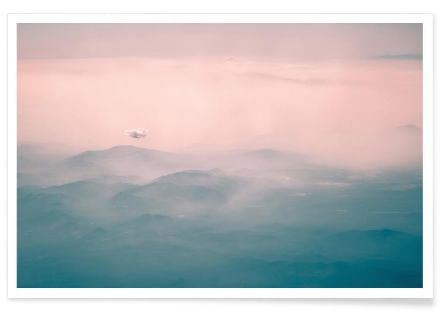 Montagnes, Couchers de soleil, Lassen National Park USA - Photographie affiche