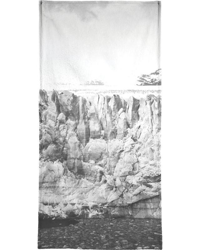 Mountains, Black & White, Raw 5 Perito Moreno Argentina Beach Towel