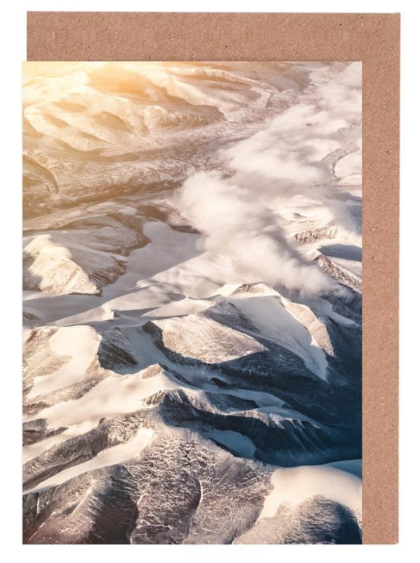 Berge, Sonnenuntergänge, Raw 6 Nanortalik Greenland -Grußkarten-Set
