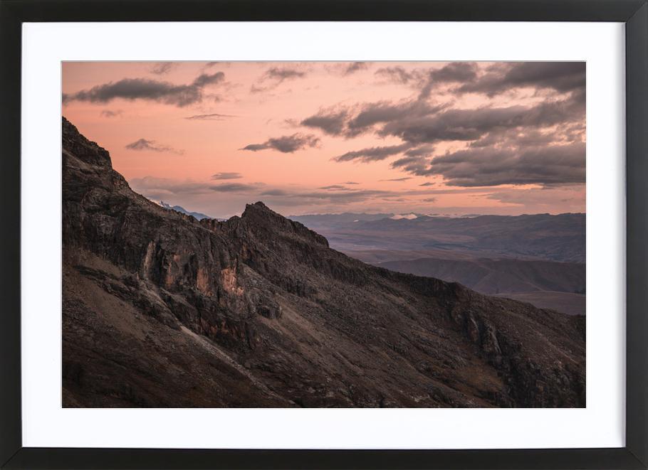 Raw 7 Huaraz Colombia -Bild mit Holzrahmen