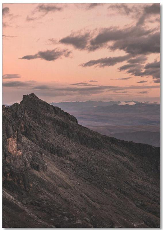 Berge, Sonnenuntergänge, Raw 7 Huaraz Colombia -Notizblock