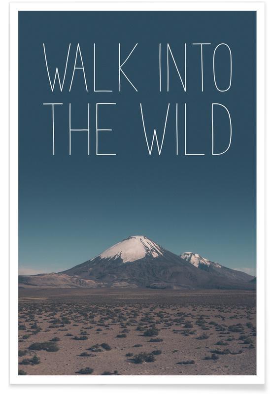 Montagnes, Marcher dans la nature - Photographie affiche